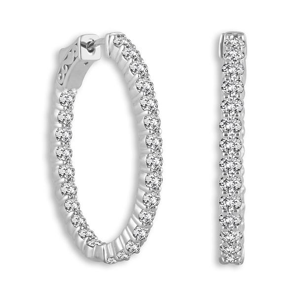 View Oval Shape (Shared Prongs) Hoop