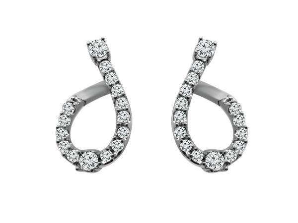 View PEAR SHAPE HOOPS PUSH ON/OFF