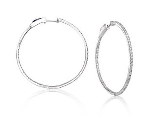 View BIG DIAMETER HOOP EARRINGS - 10K