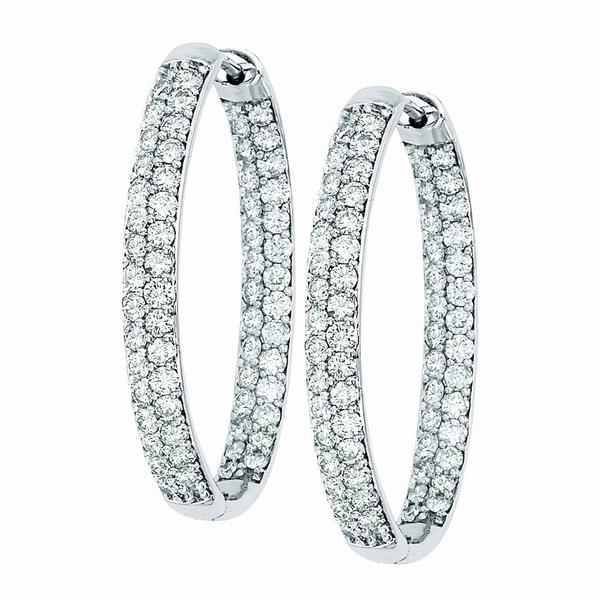 View OVAL PAVE HOOPS