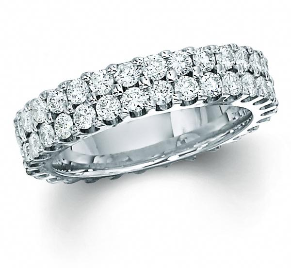 View TWO ROW ETERNITY BAND