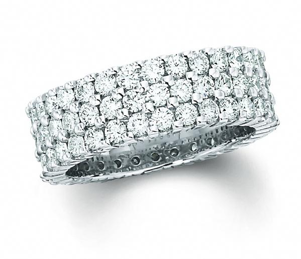 View THREE ROW ETERNITY BAND