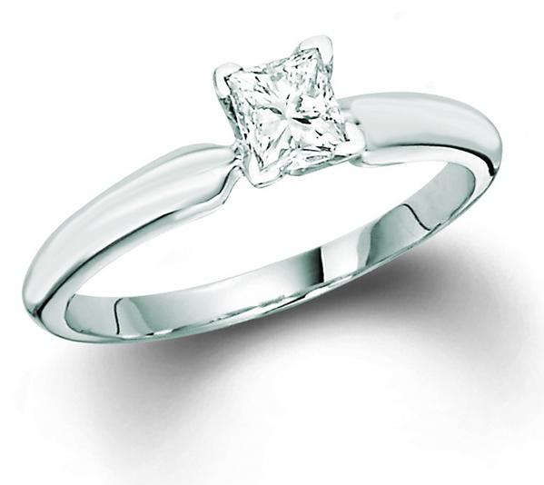 View SOLITAIRE PRINCESS RING