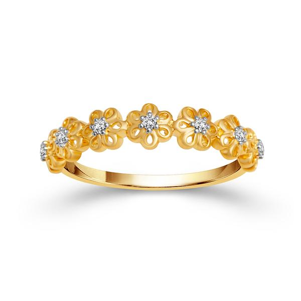 View 10K Yg Gold<BR>  Diamond Ring