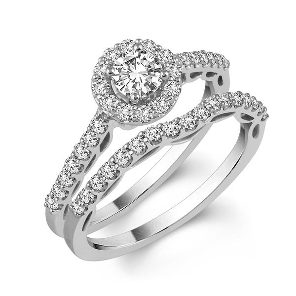 View 14K Wg or   Yg Gold<BR>  Diamond Ring